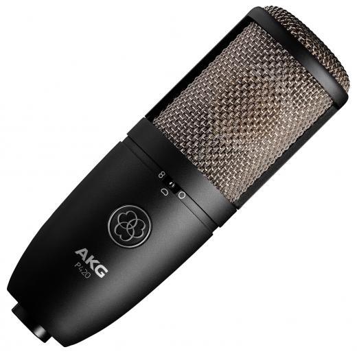 Micrófono de condensador de gran diafragma con tres patrones de captación, respuesta de frecuencia de 20Hz-20kHz, atenuación de bajos y almohadilla de 20dB