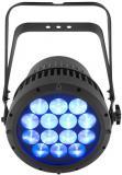 Par Led wash interior / exterior con 14 LEDs de alta luminosidad color quad Osram (RGBW) y 14 ° a 44 ° de zoom. curvas de regulación seleccionables