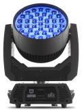 9 zonas de control a traves de 37 LED´s de 15W RGBW quad-LEDs, rango de zoom de rápido de 12 ° - 49 °