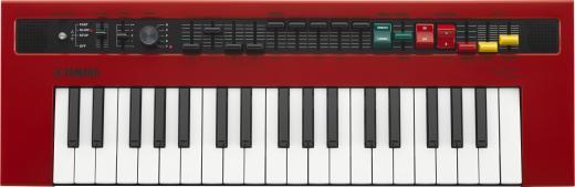 Mini teclado móvil de 37 teclas con 5 ondas de órgano clásicas, efectos integrados, entrada de pedal de expresión, altavoces estéreo incorporados, conectividad MIDI, entrada auxiliar y salidas de línea dual