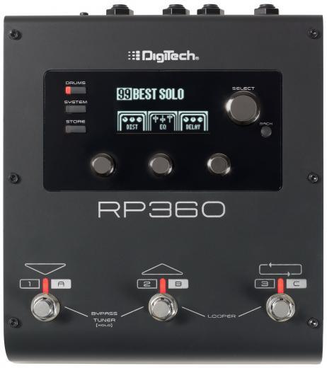 Pedal de procesador multiefecto para guitarra con 126 efectos, 198 presets, Looper de 40 segundos y 60 patrones de batería