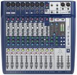 8 preamplificadores de micrófono, 2 buses auxiliares, ecualizadores británicos de 3 bandas, efectos léxicon, limitadores dbx, entradas intercambiables hi-Z, reproducción y grabación USB