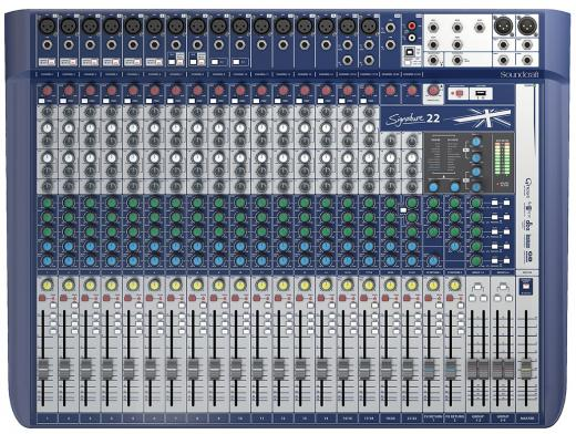 16 preamplificadores de micrófono, 3 buses auxiliares, ecualizadores británicos de 4 bandas, motores de efectos de léxicoN dual, limitadores dbx, entradas hi-Z intercambiables, reproducción y grabación USB
