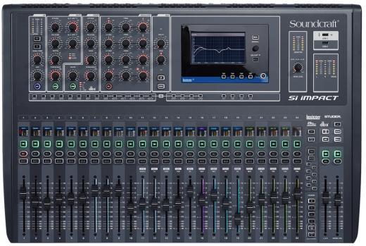 Consola de mezcla digital de 40 entradas con preamplificadores de 32 micrófonos, 20 buses auxiliares, 4 buses de matriz, DSP integrado, interfaz USB de 32 entradas / 32 salidas, pantalla táctil y control por iPad