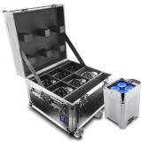 Compacto y discreto, diseñado para iluminación ascendente. Cuenta con batería de larga duración y carcasa en  acabado cromado.