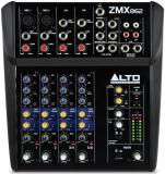8 entradas totales, 2 canales con entrada XLR y entradas de línea balanceadas, 2 canales de entrada estéreo con jacks TRS balanceadas